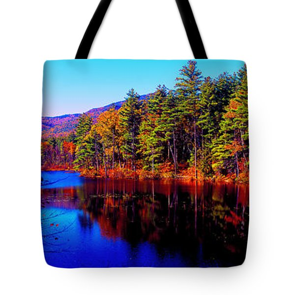 White Mountians National Park Red Eagle Pond New Hampshire Tote Bag
