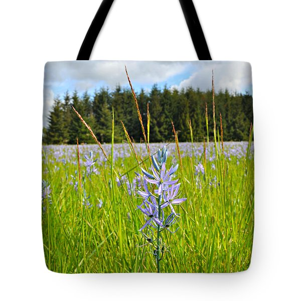 Wild Camas In Oregon Tote Bag