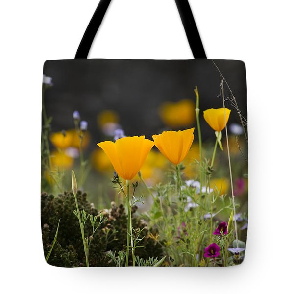 Wildflowers Explode Tote Bag