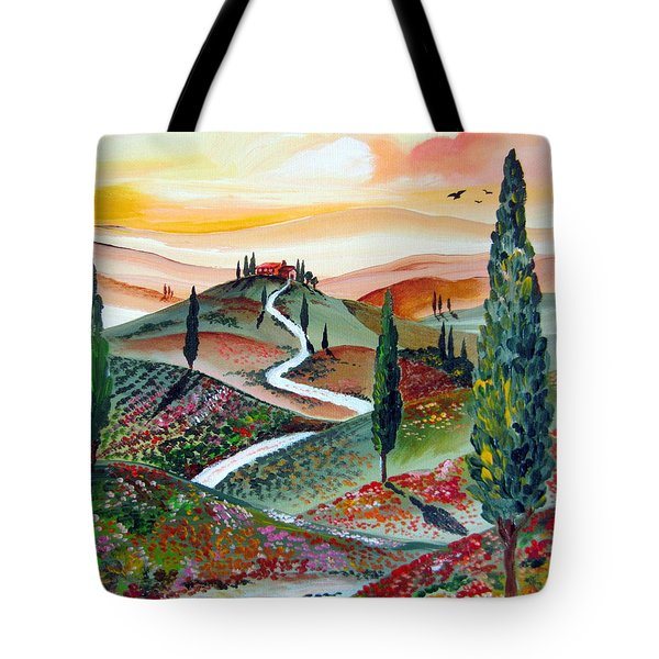 Winding Country Road Among The Hills Of Tuscany Tote Bag