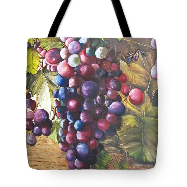Wine Grapes On A Vine Tote Bag