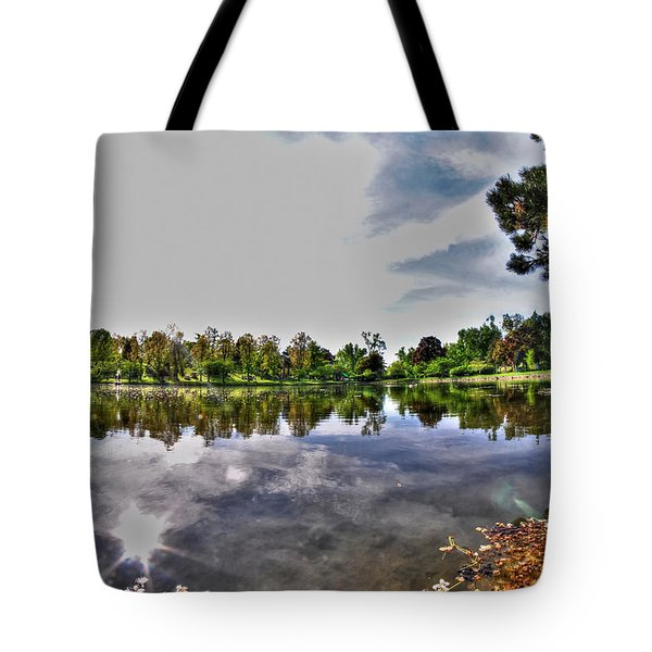 002 Reflecting At Forest Lawn Tote Bag by Michael Frank Jr