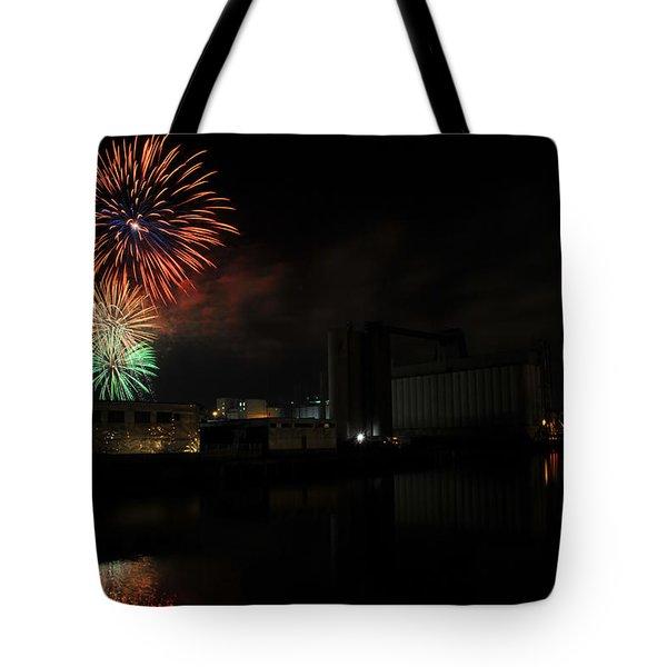 0020 ...the Bombs Bursting In Air...4jul13 Series Tote Bag by Michael Frank Jr