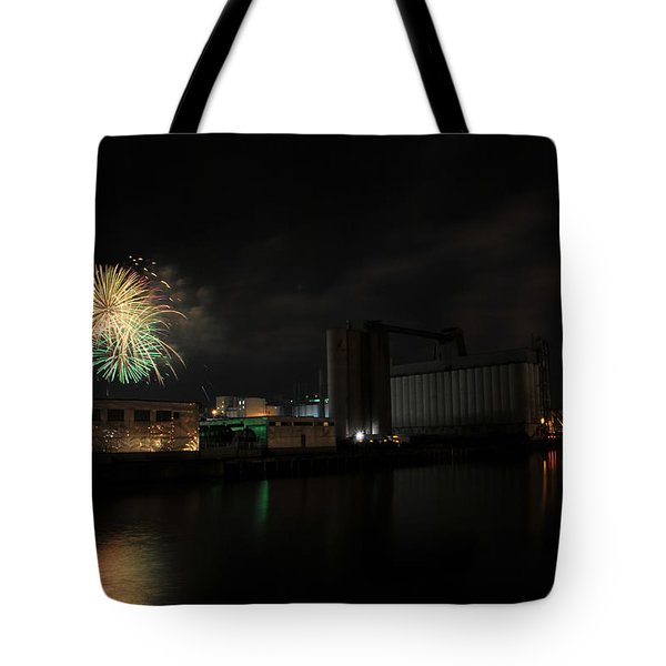 005 ...the Bombs Bursting In Air...4jul13 Series Tote Bag by Michael Frank Jr