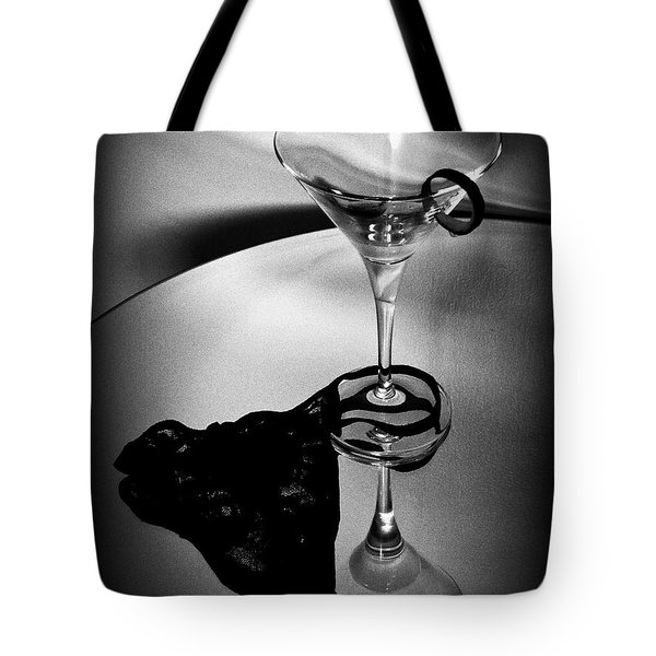 Martini Glass Charm Tote Bag by Linda Bianic