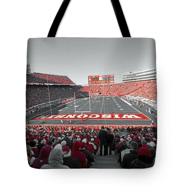 0096 Badger Football Tote Bag