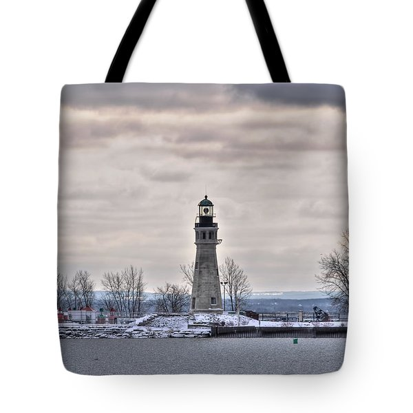 01 Winter Light House Tote Bag