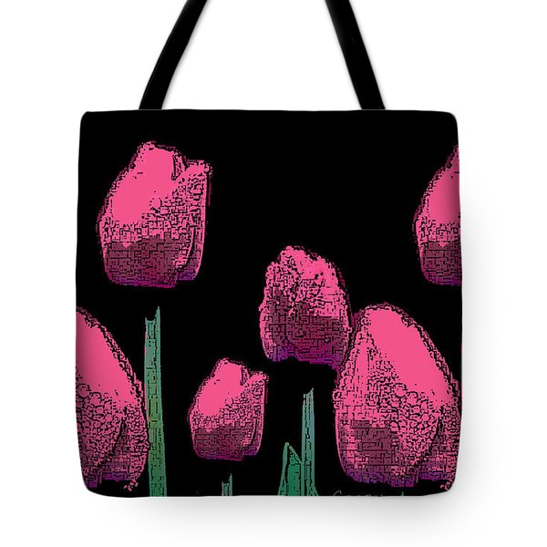 010 Hot Pink Tulips 2a Tote Bag