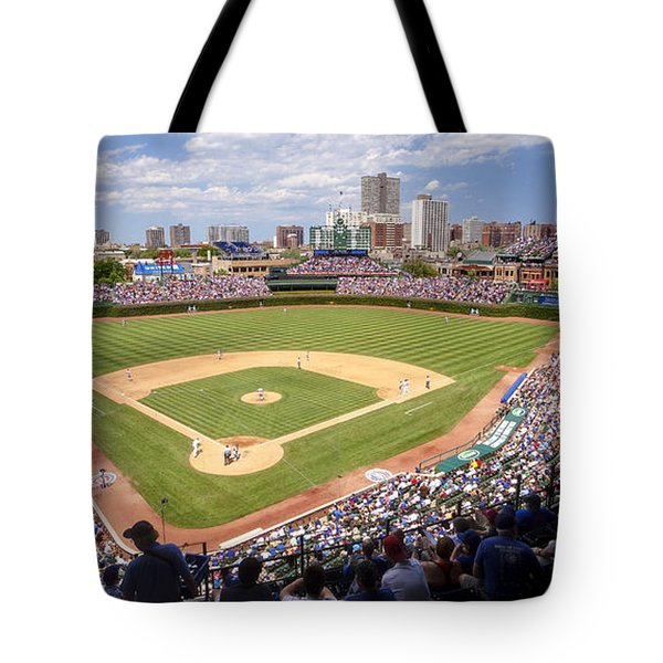 0100 Wrigley Field - Chicago Illinois Tote Bag