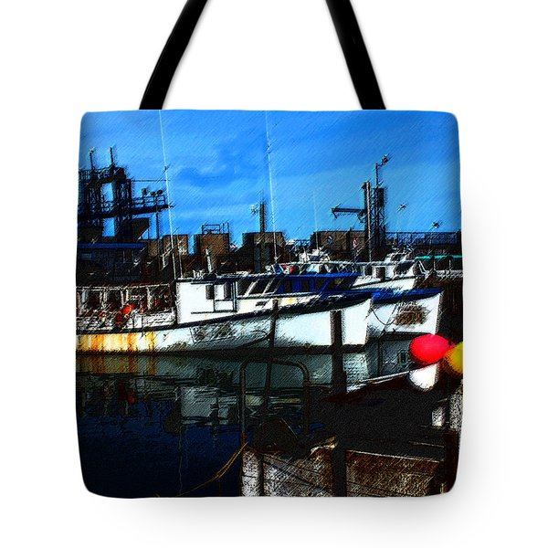 02132015 Novia Scotia Lobster Boat Tote Bag