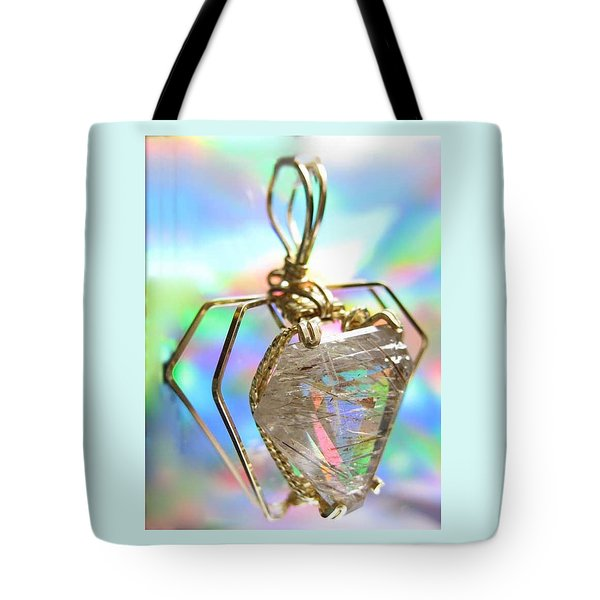 0216 Golden Needles Tote Bag