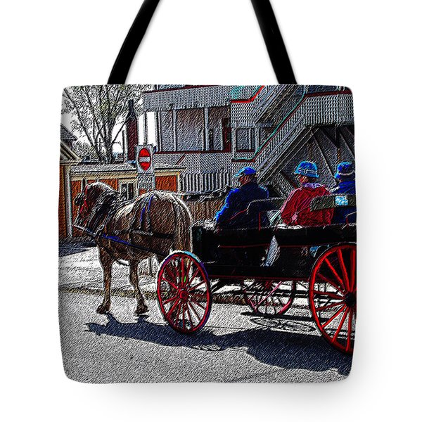 02162015 Buggy Ride Eastern Canada Tote Bag