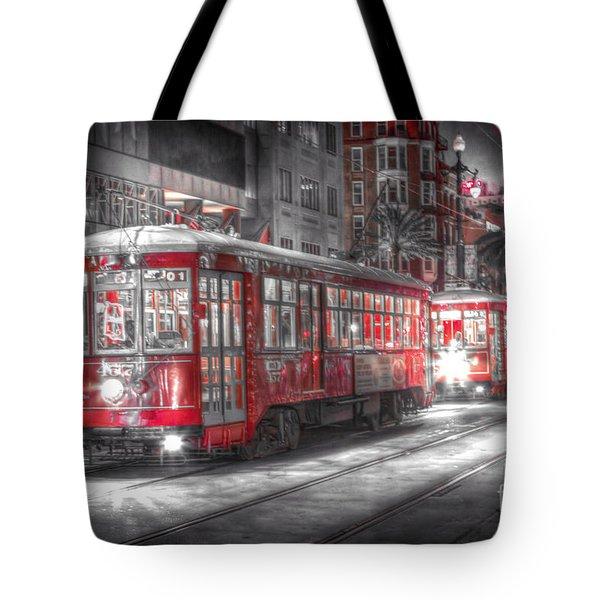 0271 New Orleans Street Car Tote Bag