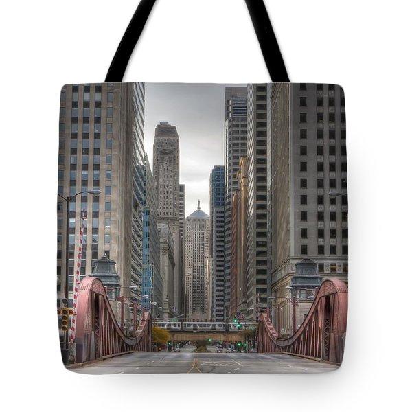 0295 Lasalle Street Chicago Tote Bag