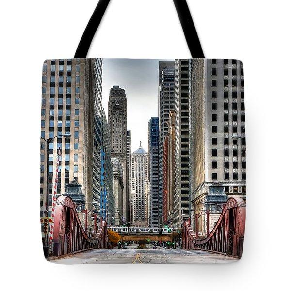 0295b Lasalle Street Bridge Tote Bag