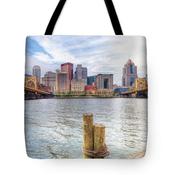 0310 Pittsburgh 3 Tote Bag by Steve Sturgill