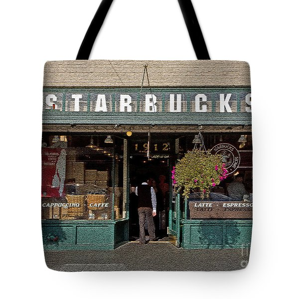 0370 First Starbucks Tote Bag