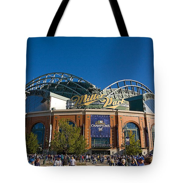 0386 Miller Park Milwaukee Tote Bag