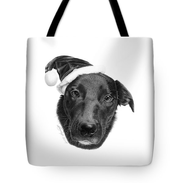 Tote Bag featuring the drawing 039 - 2014 Emmie Christmas by Abbey Noelle
