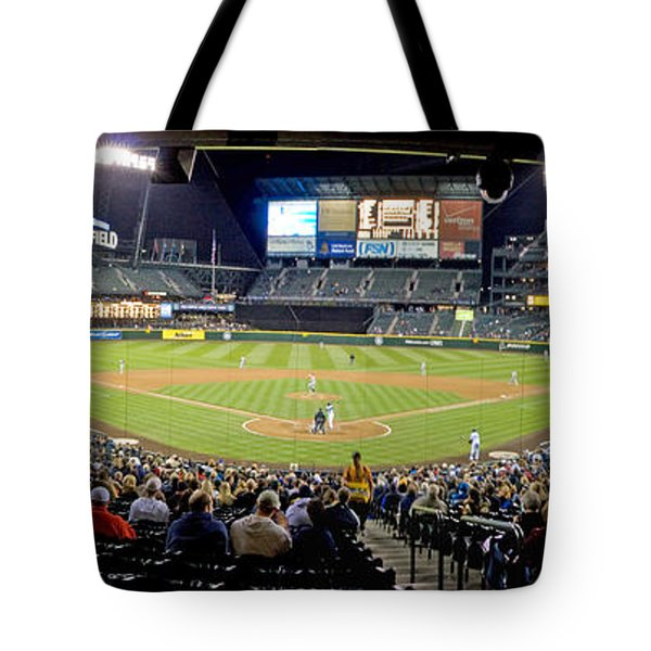0434 Safeco Field Panoramic Tote Bag