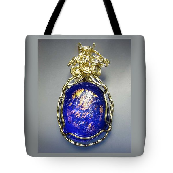 0477 Cobalt Scape Tote Bag