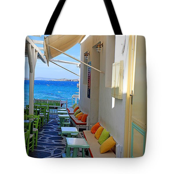 0560 Mykonos Greece Tote Bag