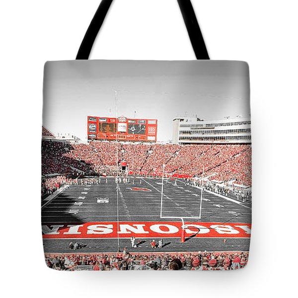 0813 Camp Randall Stadium Panorama Tote Bag