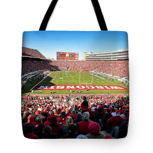 0814 Camp Randall Stadium Tote Bag