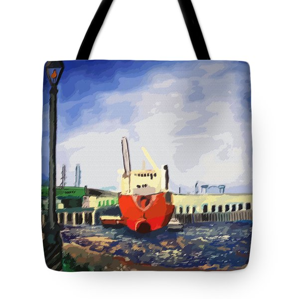 082014new Orleans Wharf Tote Bag