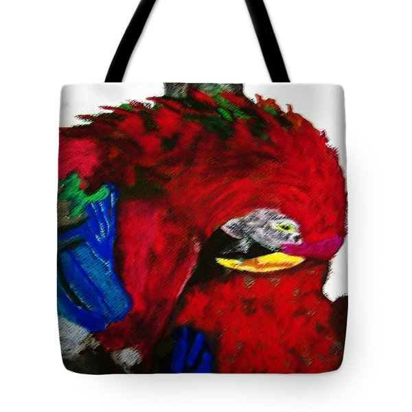 08222012 Parrot Grooming His Mate Tote Bag
