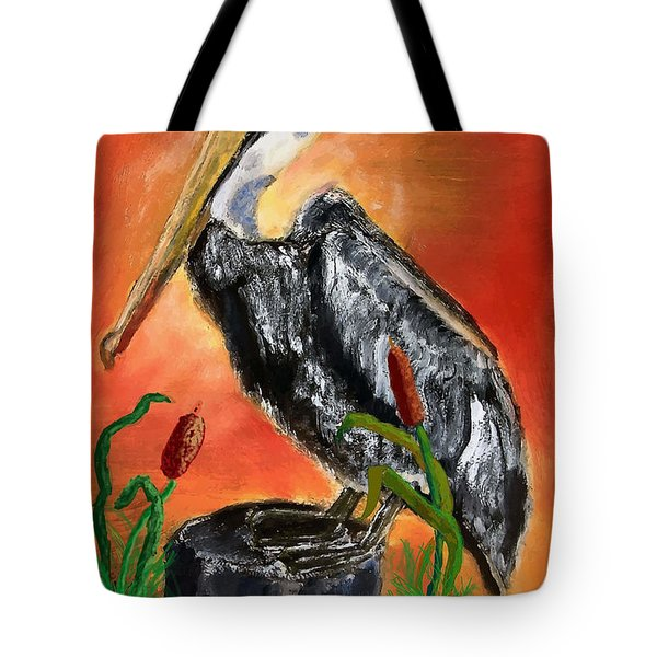 082914 Pelican Louisiana Pride Tote Bag