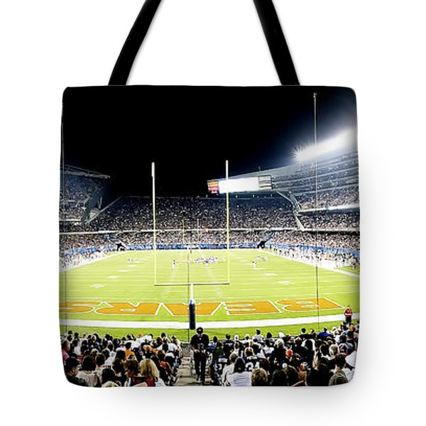0856 Soldier Field Panoramic Tote Bag