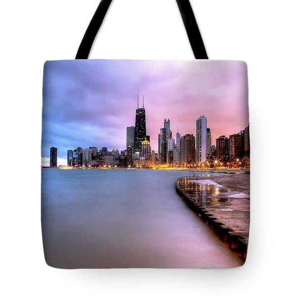 0865 Chicago Sunrise Tote Bag
