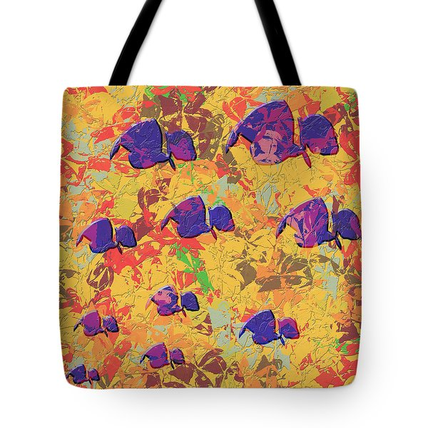0886 Abstract Thought Tote Bag by Chowdary V Arikatla
