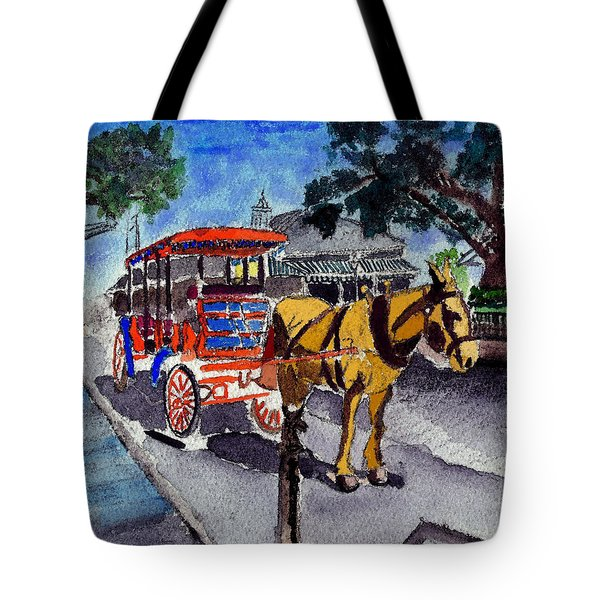 090514 New Orleans Carriages Watercolor Tote Bag