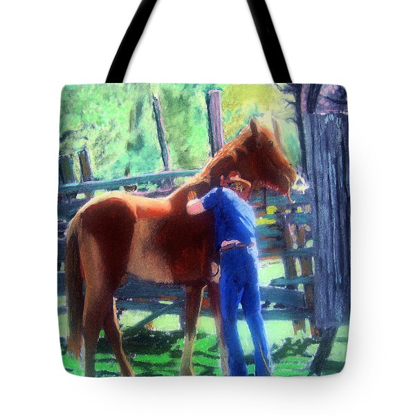 092814 Louisiana Cow Boy Tote Bag