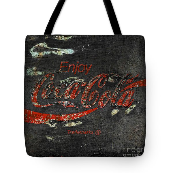Coca Cola Sign Grungy  Tote Bag by John Stephens