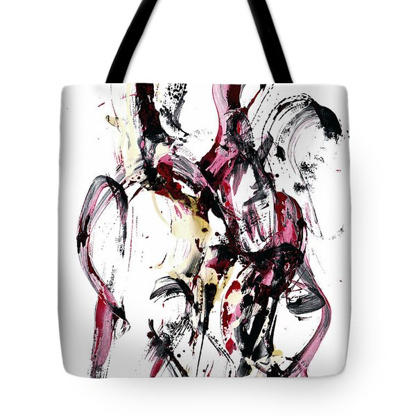 Tote Bag featuring the painting 10118.110409 - Dance Of The Universe 1 by Kris Haas