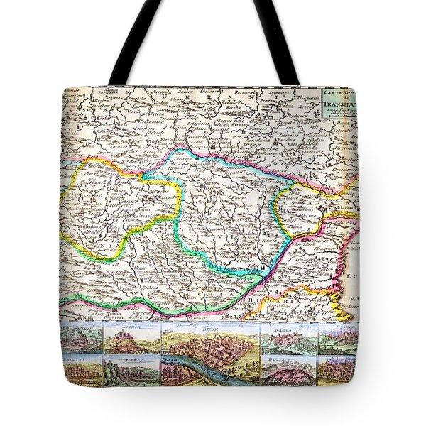 1710 De La Feuille Map Of Transylvania Moldova Geographicus Transylvania Leafeuille 1710 Tote Bag