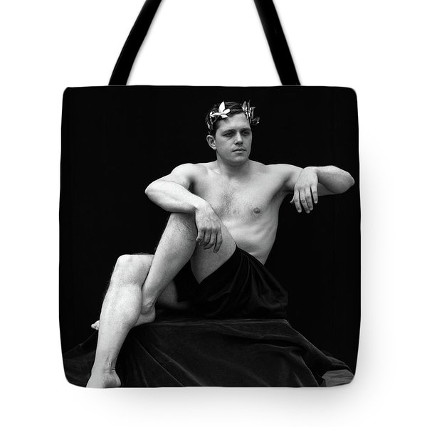 1920s Man Semi Nude Classical Pose Tote Bag
