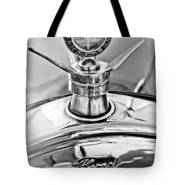 1923 Ford Model T Hood Ornament Tote Bag by Jill Reger