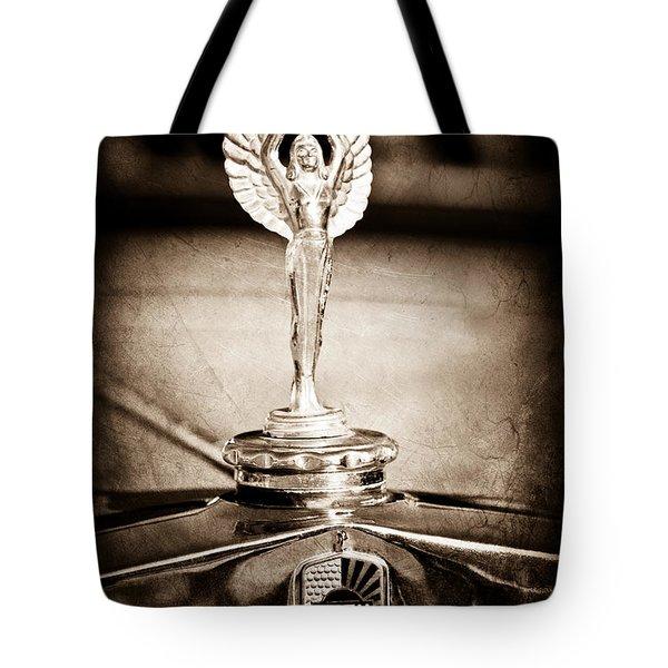 1928 Nash Coupe Hood Ornament Tote Bag