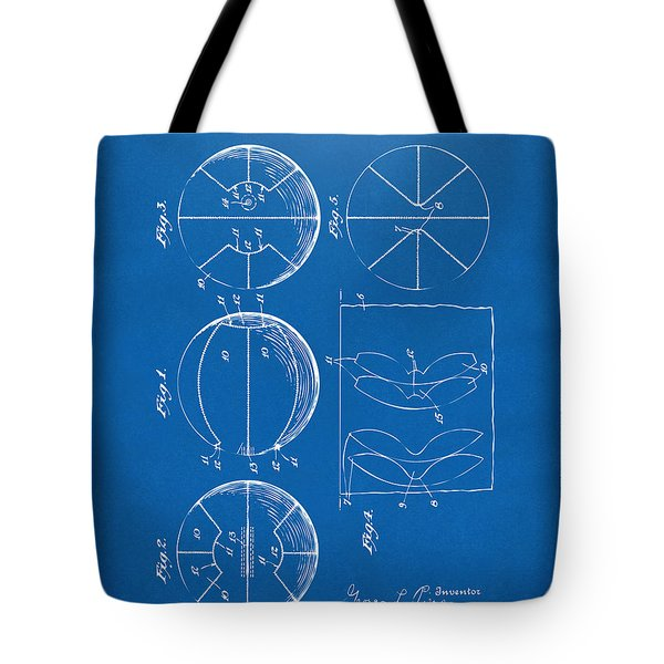 1929 Basketball Patent Artwork - Blueprint Tote Bag