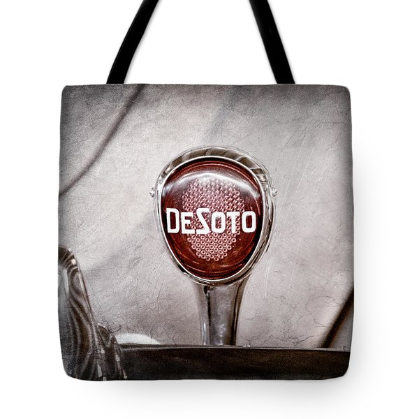 1934 Desoto Airflow Coupe Taillight Emblem Tote Bag by Jill Reger