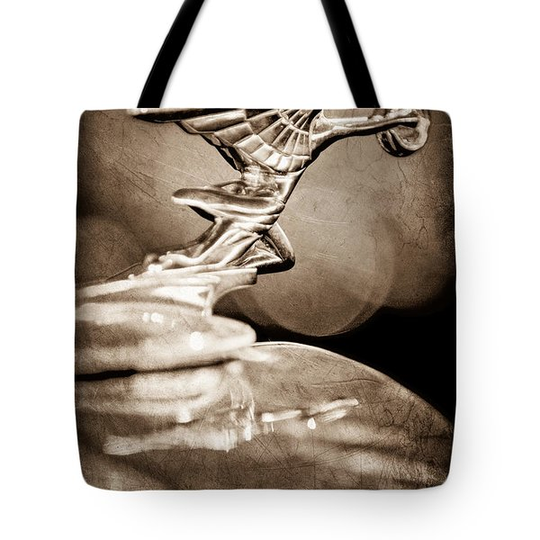 1934 Packard Coupe Hood Ornament Tote Bag by Jill Reger