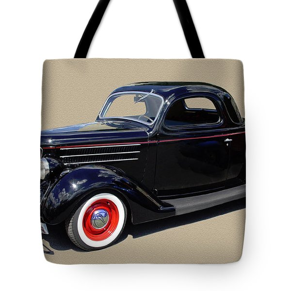 1936 Ford 3 Window Coupe Tote Bag by Jack Pumphrey