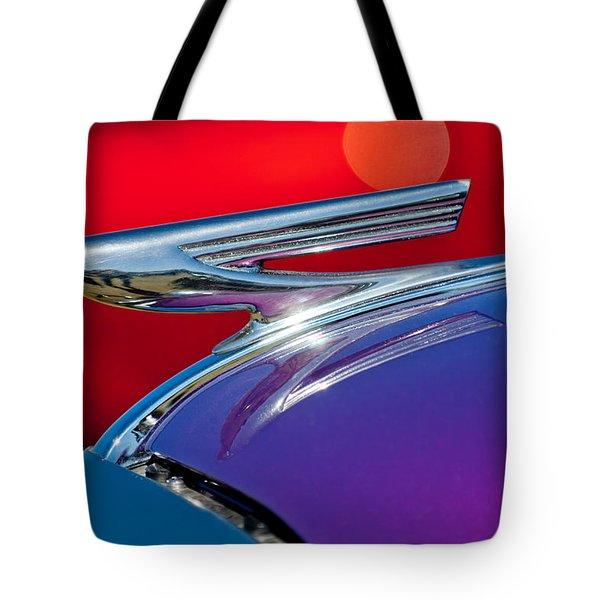 1937 Chevrolet Hood Ornament Tote Bag by Jill Reger