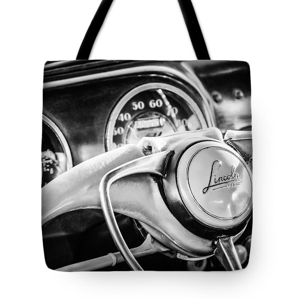 1941 Lincoln Continental Coupe Steering Wheel Emblem -0858c Tote Bag