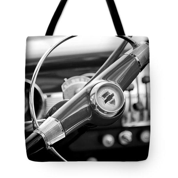 1951 Chevrolet Convertible Steering Wheel Tote Bag by Jill Reger