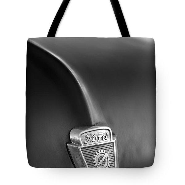 1953 Ford F100 Pickup Truck Hood Emblem Tote Bag by Jill Reger